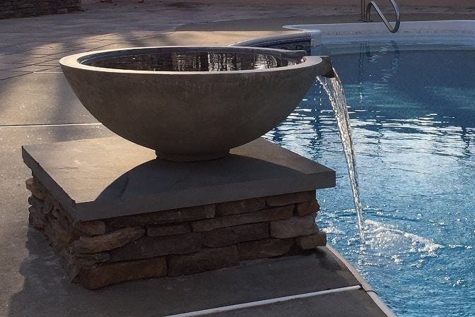 Pool spill over bowl