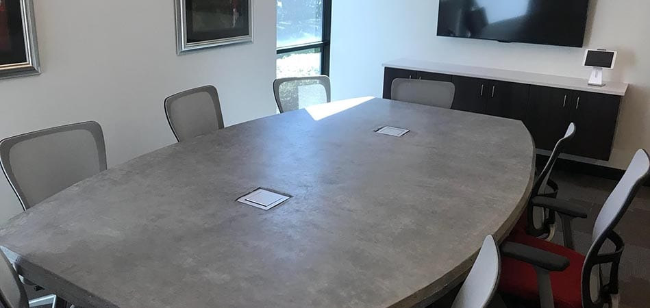 concrete conference room table