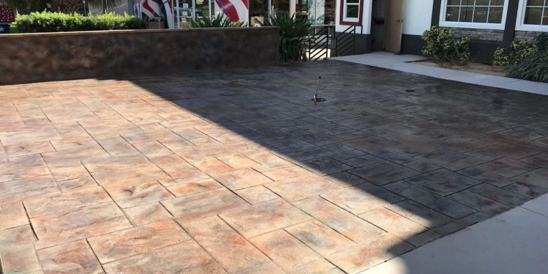 DreamCrete residential stamped concrete
