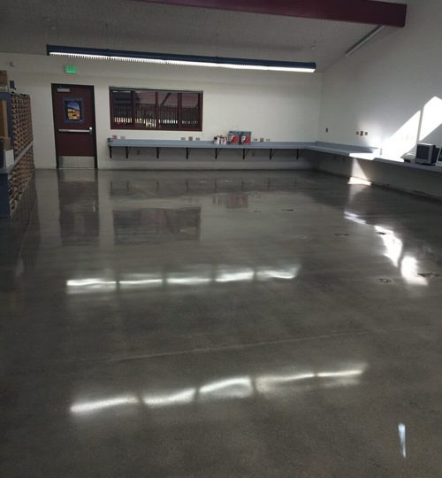 polished concrete in aschool