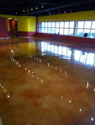 Commercial Metallic Epoxy Commercial Project