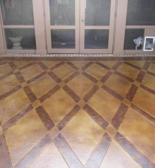 Stained Concrete Patio Finish