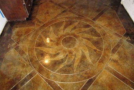 concrete floor art