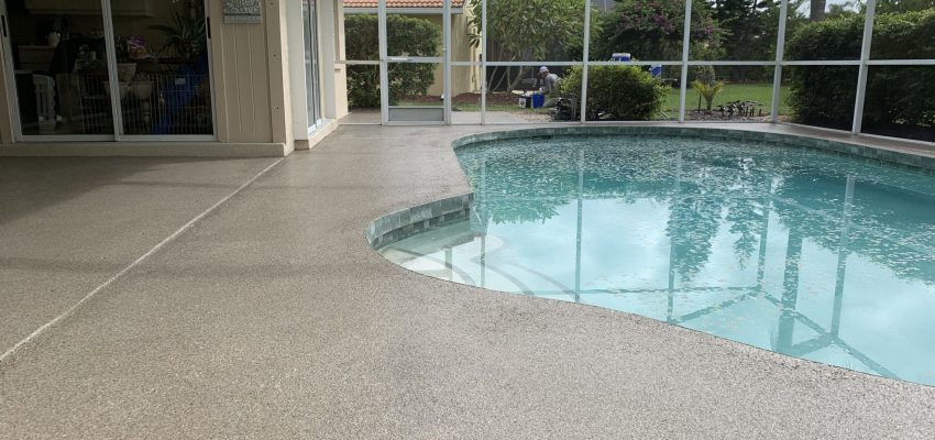Pool Deck Resurfacing by DecoCrete Services